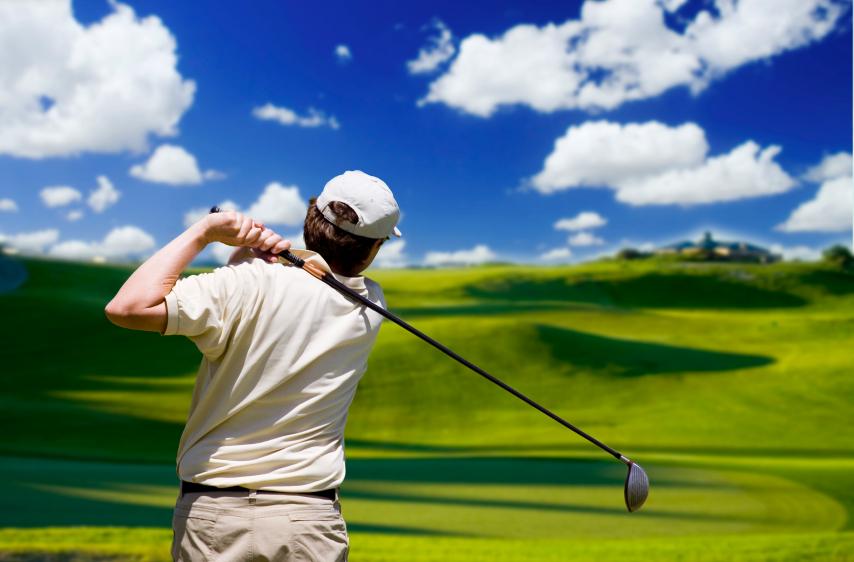 Joueur en compétition golf