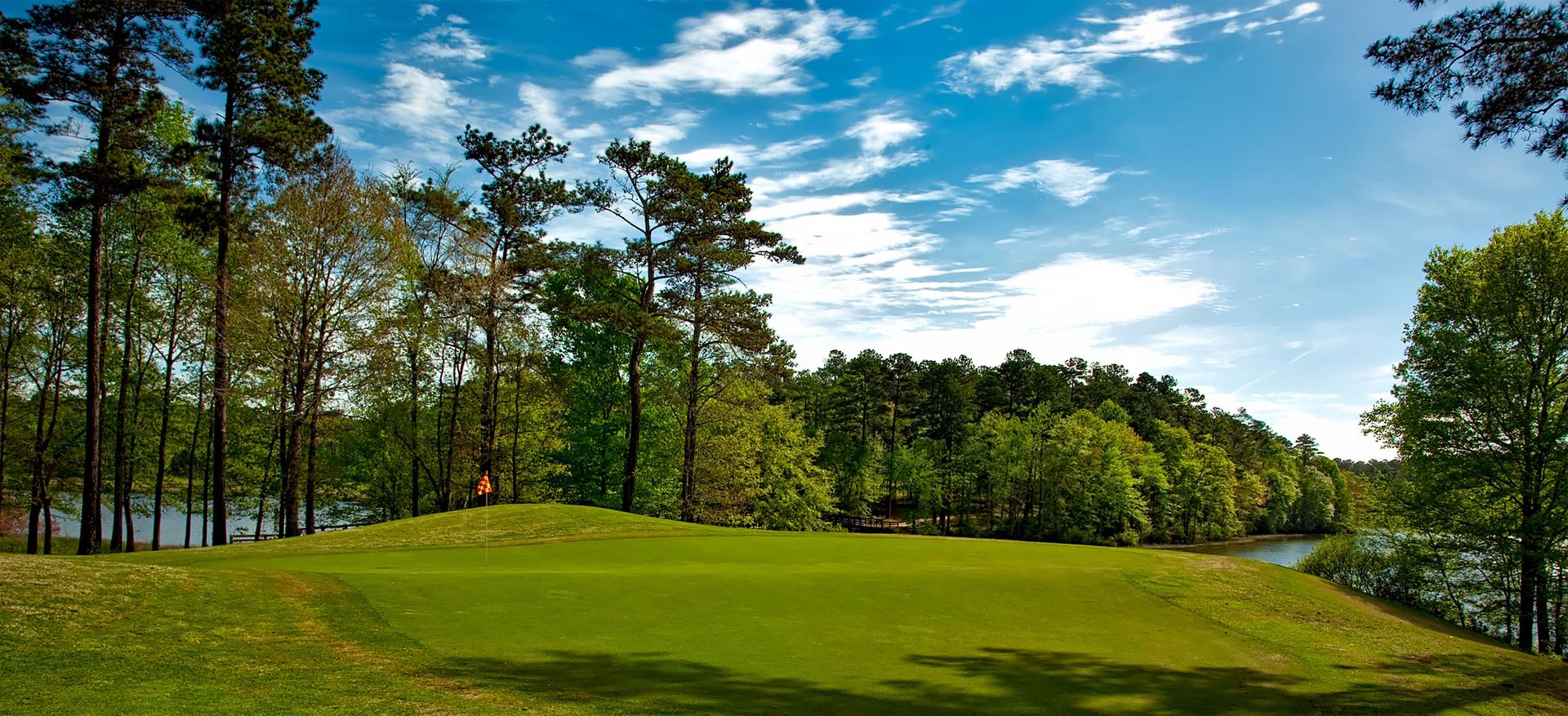Parcours de golf haute définition semi panoramique