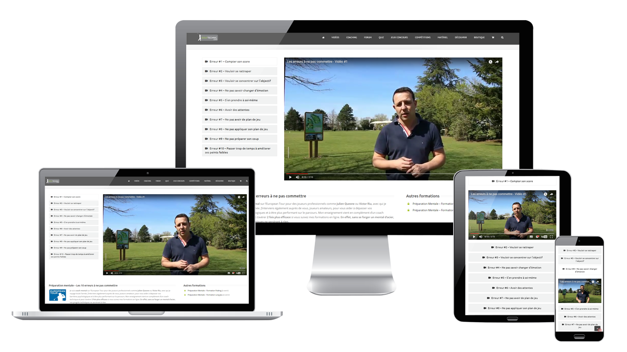 annoncer site golf