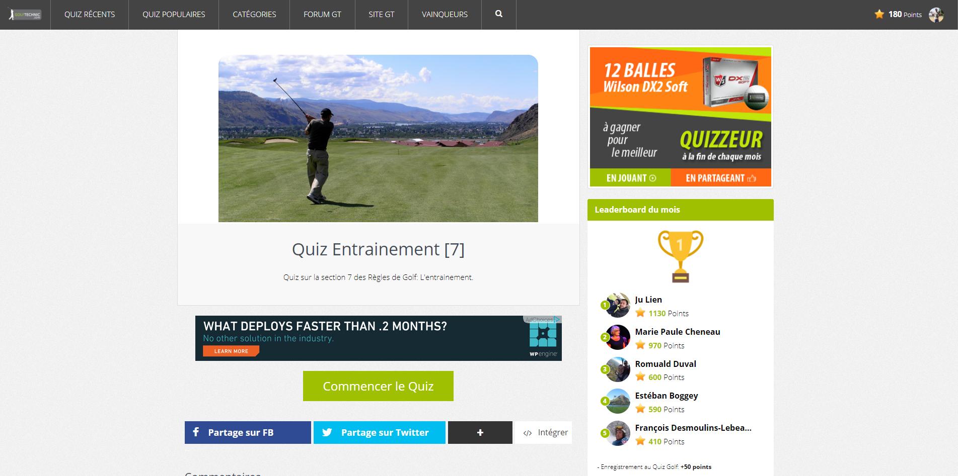 Règles de golf Royal and Ancient