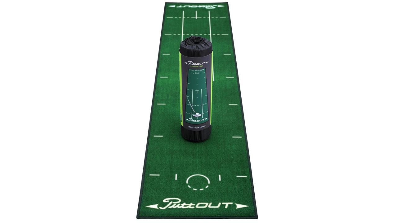 Tapis de putting puttout vert golftechnic for Tapis de cuisine vert d eau