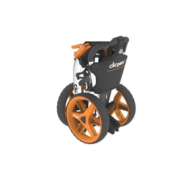 chariot 3 5 clicgear noir orange golftechnic. Black Bedroom Furniture Sets. Home Design Ideas