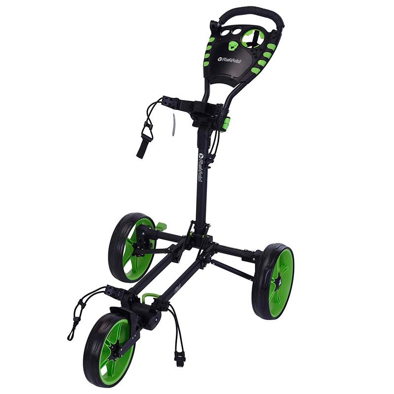 fastfold chariot flat 3 noir vert golftechnic. Black Bedroom Furniture Sets. Home Design Ideas
