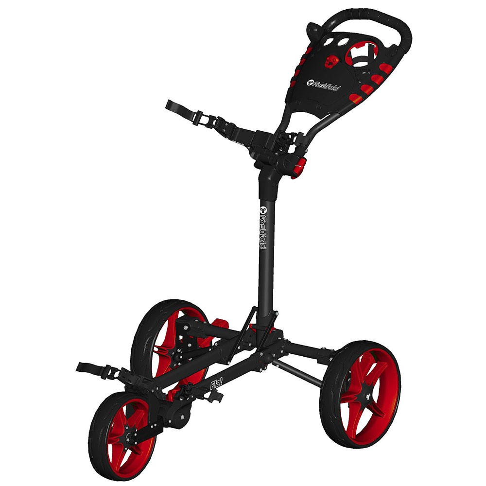 fastfold chariot flat 3 roues rouge golftechnic. Black Bedroom Furniture Sets. Home Design Ideas